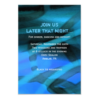 WATERCOLOR STAR Bar Bat Mitzvah Reply Card Personalized Announcements
