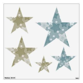 Watercolor Stars Wall Sticker