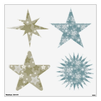 Watercolor Stars Room Graphics