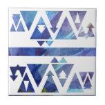 Watercolor Stencil Ceramic Tile