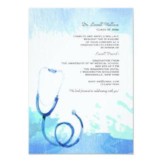 Watercolor Stethoscope Invitation