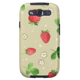 Watercolor strawberries pattern samsung galaxy s3 cover