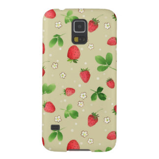 Watercolor strawberries pattern galaxy s5 case