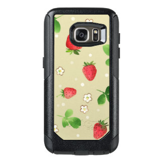 Watercolor strawberries pattern OtterBox samsung galaxy s7 case