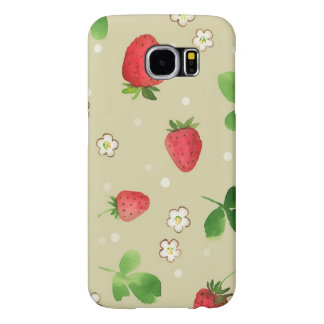 Watercolor strawberries pattern samsung galaxy s6 case
