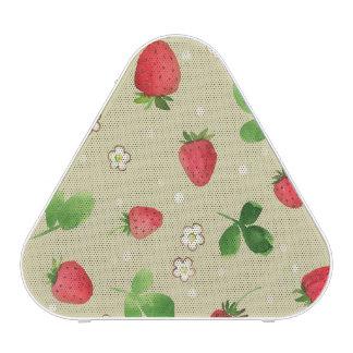 Watercolor strawberries pattern speaker