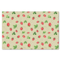Watercolor strawberries pattern tissue paper