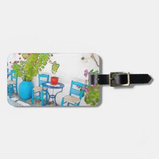 Watercolor street view bag tag