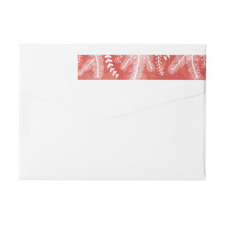 Watercolor Strip Holiday Return Address Label