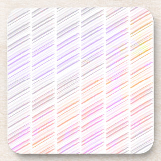 Watercolor Stripe Pattern Coaster