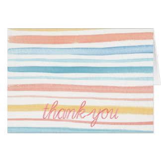 Note Cards - Watercolor Stripe Thank You Notes