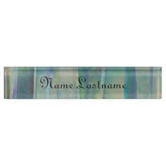 Watercolor Stripes Desk Nameplate