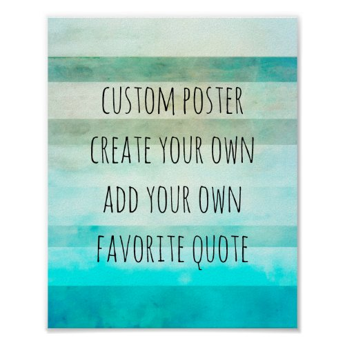 watercolor stripes poster create your own quote