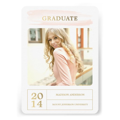 Watercolor Stroke   Graduation Party Invitation