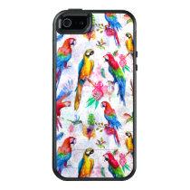 Watercolor Style Parrots OtterBox iPhone 5/5s/SE Case