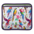Watercolor Style Parrots Sleeve For iPads