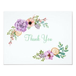 Watercolor Succulent Botanical Thank You Card
