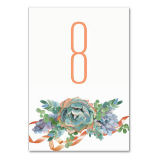 Watercolor Succulent Cluster Wedding 2 Card