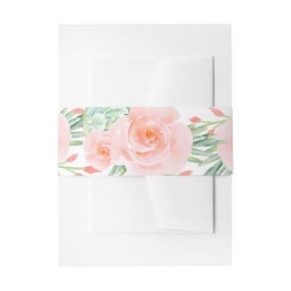 watercolor succulent peach roses belly band