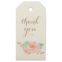 watercolor succulent peach roses gift tags
