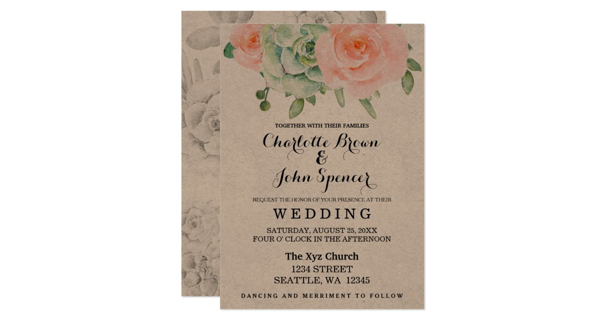 Rustic Wedding invitations | Wedding Paper Love