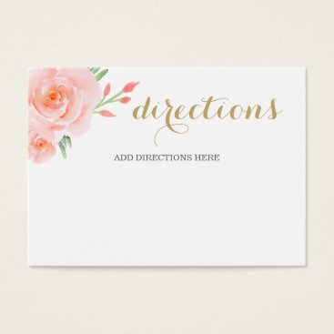 watercolor succulent peach roses wedding details business card