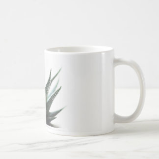 Watercolor succulent plant mug, green painted art coffee mug