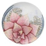 Watercolor Succulent Plate