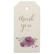 watercolor succulent plum roses gift tags