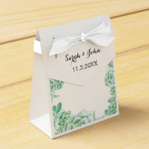 watercolor succulent wedding favor box