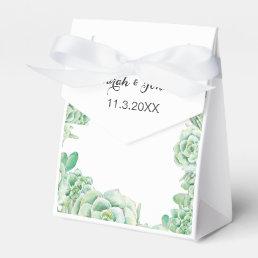 watercolor succulent wedding favor box