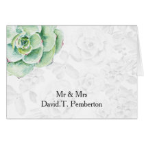 watercolor succulent Wedding Place Cards