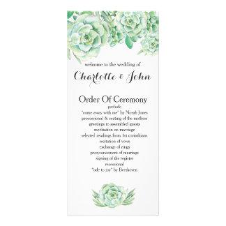 watercolor succulent wedding programs