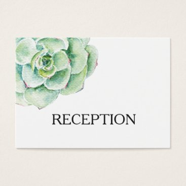 watercolor succulent wedding reception invite