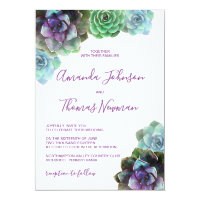Watercolor Succulents | Wedding Invitation