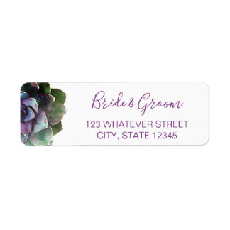 Watercolor Succulents | Wedding Label