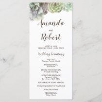 Watercolor Succulents | Wedding Program