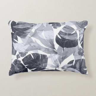 Watercolor summer flowers accent pillow