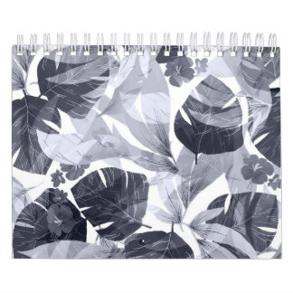 Watercolor summer flowers calendar