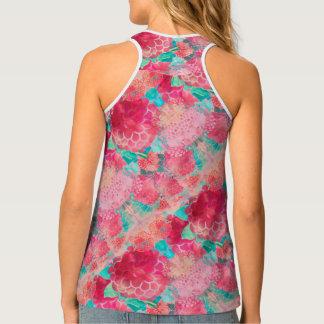 Watercolor Summer Flowers Tank Top