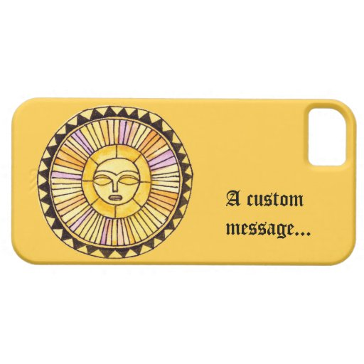Watercolor Sun iPhone 5 Cover