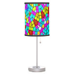 Watercolor Sun Mosaic Stained Glass Art Lamp