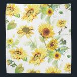 """Watercolor Sunflower Bandana<br><div class=""""desc"""">Watercolor Sunflower</div>"""