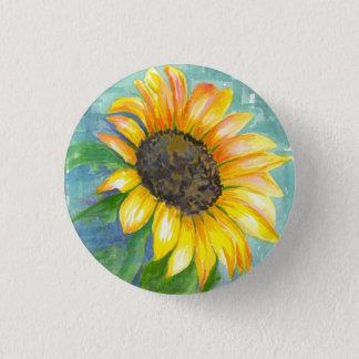 Watercolor Sunflower Button