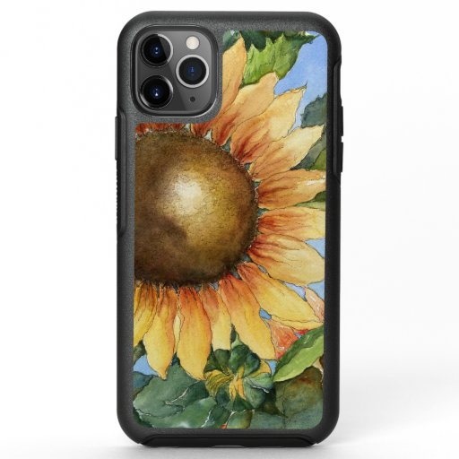 Watercolor Sunflower Garden Summer Flower   OtterBox Symmetry iPhone 11 Pro Max Case