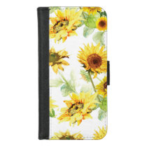 Watercolor Sunflower iPhone 8/7 Wallet Case