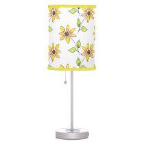 Watercolor Sunflower Pattern Desk Lamp