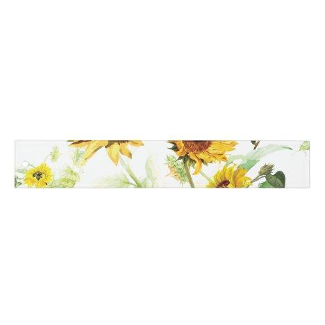 Watercolor Sunflower Ruler