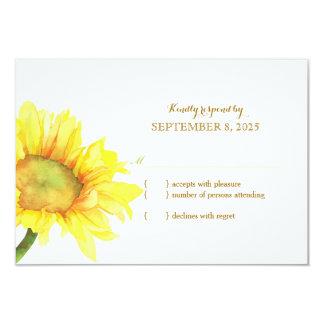 Watercolor Sunflower Wedding RSVP Card