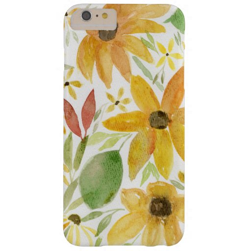 Watercolor Sunflowers Barely There iPhone 6 Plus Case